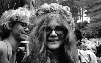 A still of Janis Joplin from the music documentary, Janis: Little Girl Blue.