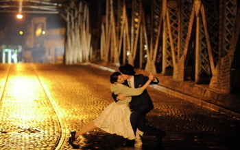 A still of a re-enactment scene from Our Last Tango.