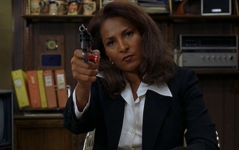 A still from Quentin Tarantino's Jackie Brown, starring Pam Grier as the titular character.