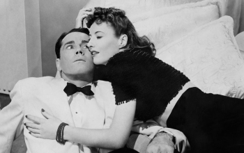 A still of Barbara Stanwyck and Henry Fonda in The Lady Eve.