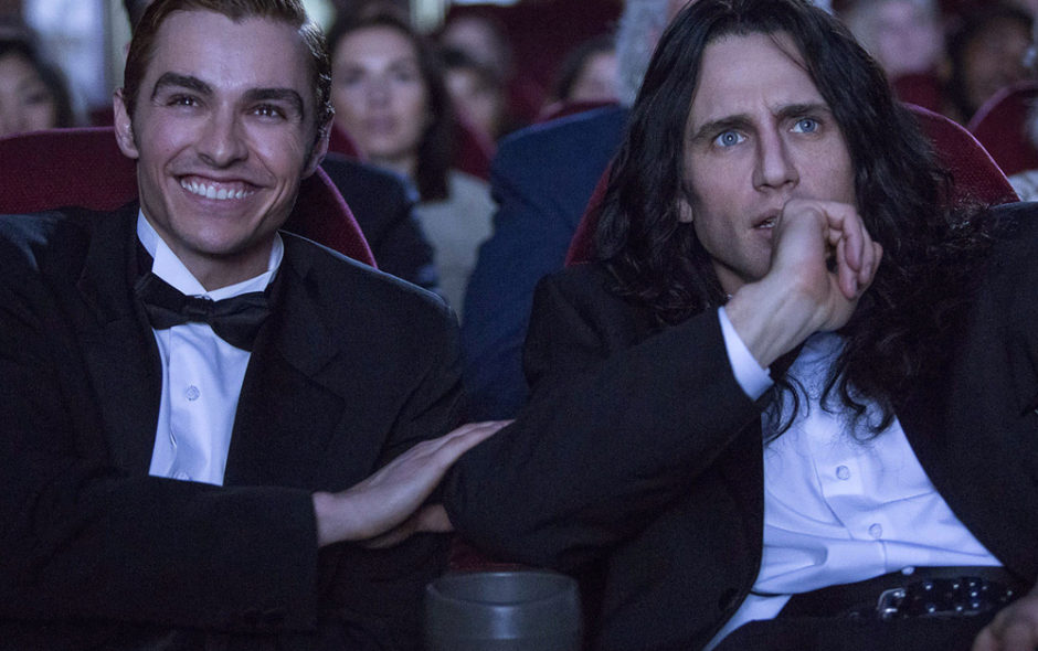 "Dave Franco, left, and James Franco in a scene from ""The Disaster Artist."""